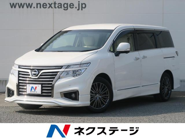 NISSANELGRAND 250HIGHWAY STAR S WHITE LEATHER URBAN CHROME
